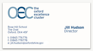 Oxford excellence cluster on gsgd graphic web design an oxford excellence cluster business card reheart Choice Image